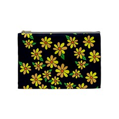Daisy Flower Pattern For Summer Cosmetic Bag (medium)