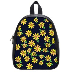 Daisy Flower Pattern For Summer School Bags (small)