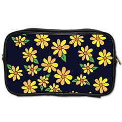 Daisy Flower Pattern For Summer Toiletries Bags 2 Side