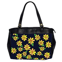 Daisy Flower Pattern For Summer Office Handbags (2 Sides)  by BubbSnugg