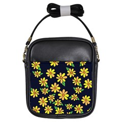 Daisy Flower Pattern For Summer Girls Sling Bags
