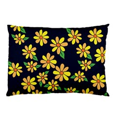 Daisy Flower Pattern For Summer Pillow Case (two Sides)