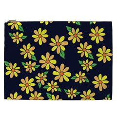Daisy Flower Pattern For Summer Cosmetic Bag (xxl)