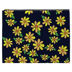 Daisy Flower Pattern For Summer Cosmetic Bag (xxxl)  by BubbSnugg