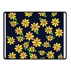 Daisy Flower Pattern For Summer Double Sided Fleece Blanket (small)  by BubbSnugg