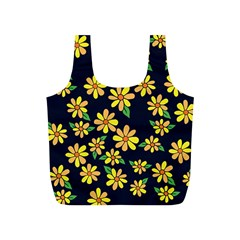 Daisy Flower Pattern For Summer Full Print Recycle Bags (s)