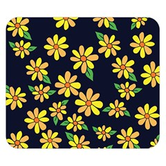 Daisy Flower Pattern For Summer Double Sided Flano Blanket (small)