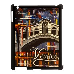 Venice Rialto Bridge Apple Ipad 3/4 Case (black) by ArtByThree