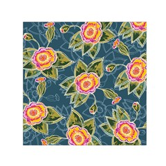 Floral Fantsy Pattern Small Satin Scarf (square) by DanaeStudio