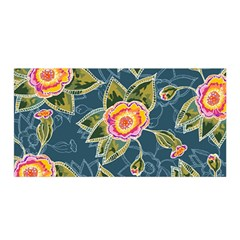 Floral Fantsy Pattern Satin Wrap by DanaeStudio