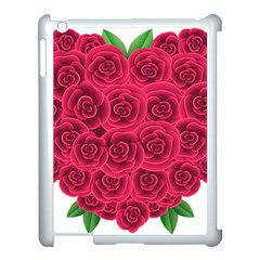 Floral Heart Apple iPad 3/4 Case (White) by Zeze
