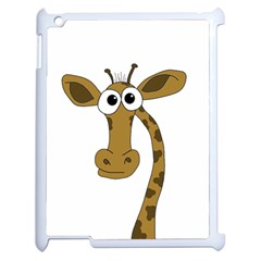 Giraffe  Apple Ipad 2 Case (white) by Valentinaart