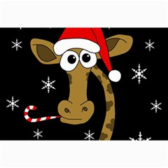 Christmas Giraffe Collage Prints