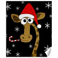 Christmas Giraffe Canvas 16  X 20   by Valentinaart