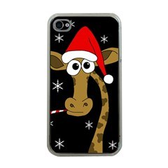 Christmas Giraffe Apple Iphone 4 Case (clear) by Valentinaart