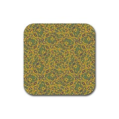 Modern Abstract Ornate Pattern Rubber Coaster (square)  by dflcprints