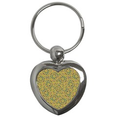 Modern Abstract Ornate Pattern Key Chains (heart)  by dflcprints