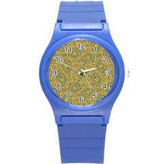 Modern Abstract Ornate Pattern Round Plastic Sport Watch (s) by dflcprints