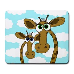 Just The Two Of Us Large Mousepads by Valentinaart