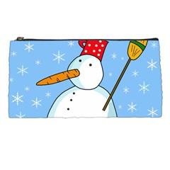 Snowman Pencil Cases by Valentinaart
