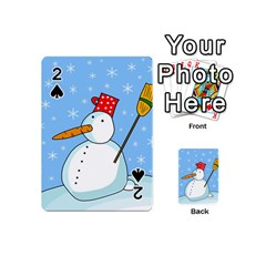 Snowman Playing Cards 54 (Mini)  by Valentinaart