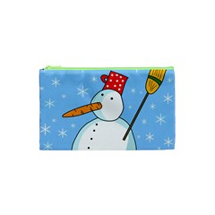 Snowman Cosmetic Bag (xs) by Valentinaart