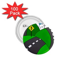 Hit The Road 1 75  Buttons (100 Pack)  by Valentinaart