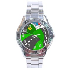 Hit The Road Stainless Steel Analogue Watch by Valentinaart
