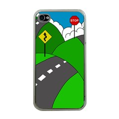 Hit The Road Apple Iphone 4 Case (clear) by Valentinaart