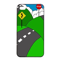 Hit The Road Apple Iphone 4/4s Seamless Case (black) by Valentinaart