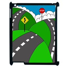 Hit The Road Apple Ipad 2 Case (black) by Valentinaart