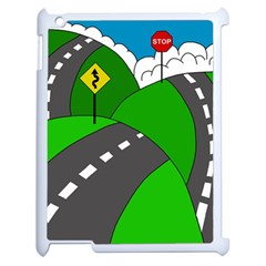 Hit The Road Apple Ipad 2 Case (white) by Valentinaart