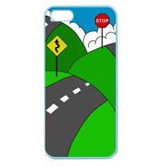 Hit The Road Apple Seamless Iphone 5 Case (color) by Valentinaart