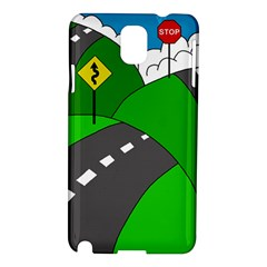 Hit The Road Samsung Galaxy Note 3 N9005 Hardshell Case by Valentinaart