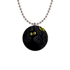 Black Cat   Halloween Button Necklaces by Valentinaart