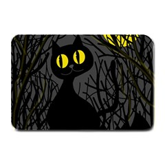 Black cat - Halloween Plate Mats by Valentinaart