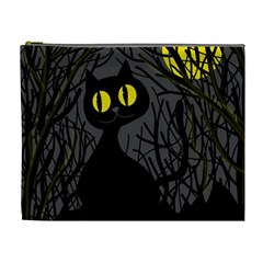 Black Cat   Halloween Cosmetic Bag (xl) by Valentinaart