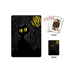 Black Cat   Halloween Playing Cards (mini)  by Valentinaart