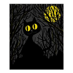 Black Cat   Halloween Shower Curtain 60  X 72  (medium)  by Valentinaart