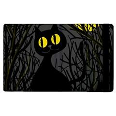Black Cat   Halloween Apple Ipad 3/4 Flip Case by Valentinaart