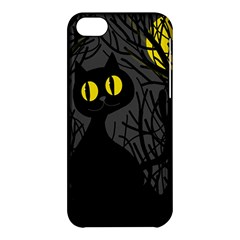 Black Cat   Halloween Apple Iphone 5c Hardshell Case by Valentinaart