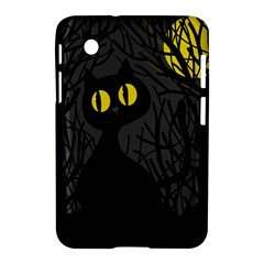 Black Cat   Halloween Samsung Galaxy Tab 2 (7 ) P3100 Hardshell Case  by Valentinaart