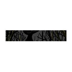 Black Cat   Halloween Flano Scarf (mini) by Valentinaart