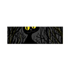 Black Cat   Halloween Satin Scarf (oblong) by Valentinaart