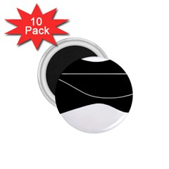 Black And White 1 75  Magnets (10 Pack)  by Valentinaart