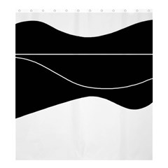 Black And White Shower Curtain 66  X 72  (large)  by Valentinaart