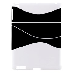 Black And White Apple Ipad 3/4 Hardshell Case (compatible With Smart Cover) by Valentinaart
