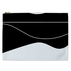 Black And White Cosmetic Bag (xxl)  by Valentinaart