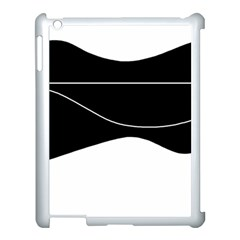 Black And White Apple Ipad 3/4 Case (white) by Valentinaart