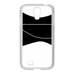 Black And White Samsung Galaxy S4 I9500/ I9505 Case (white) by Valentinaart